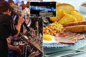why your wetherspoons food and drink menu is about to get more expensive