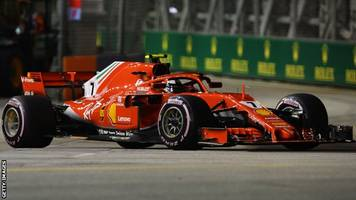 singapore gp: kimi raikkonen top as sebastian vettel hits wall