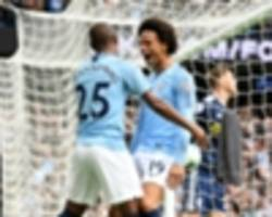 manchester city 3 fulham 0: sane, sterling and the silvas sparkle