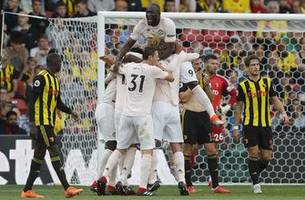 Man United ends Watford's perfect start with 2-1 win in EPL