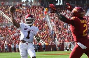 Watch all of Kyler Murray's first half TDs for Oklahoma, including a 75-yarder to Hollywood Brown