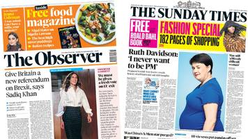 the papers: 'brexit vote needed' and ruth davidson's teenage self-harm