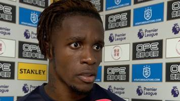 Wilfried Zaha: Crystal Palace forward someone has to break his leg to get a card