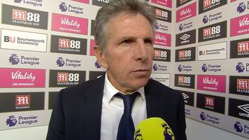 bournemouth 4-2 leicester city: claude puel dissatisfied with foxes result