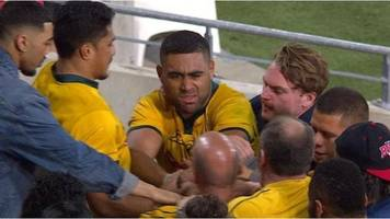 Australia's Tui scuffles with fan after defeat by Argentina