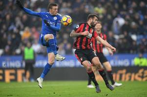 jamie vardy returns to leicester city starting line-up to face bournemouth