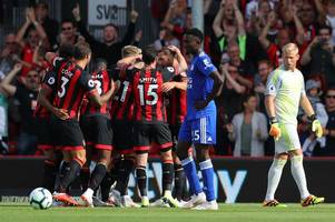 leicester city defence brutally exposed in 4-2 defeat to bournemouth