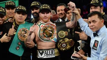 saul 'canelo' alvarez beats gennady golovkin on points to take wbc and wba middleweight titles