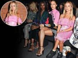lady amelia windsor, 23, joins the frow at london fashion week