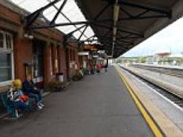 passengers on train with no toilet left behind after getting out at station