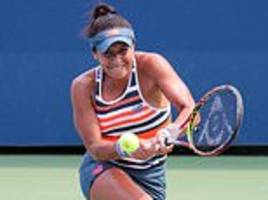 heather watson suffers semi-final heartbreak after she is knocked out of coupe banque nationale