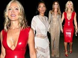 caprice bourret, 46, joins nicole scherzinger and millie mackintosh for julien macdonald show at lfw