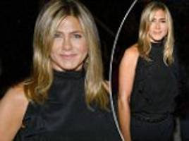 jennifer aniston dons chic all-black ensemble for star-studded netflix emmy nominee party