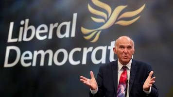 lib dems will vote against may's brexit plan - cable
