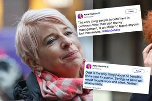 katie hopkins' spiteful old tweets about people in debt come back to haunt her as she files for iva