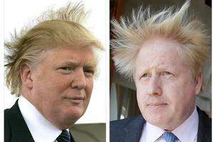 Trump and Boris Johnson are two blond buffoons with no real beliefs beyond a lust for fame and power