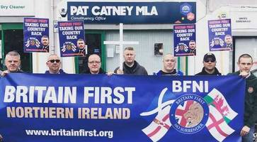 SDLP's Catney condemns Britain First protest outside constituency Lisburn office