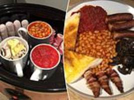 Woman shares how to cook a full English in a SLOW cooker