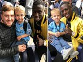 mendy invites man city fan and his son to watch fulham match with him and experience tunnel club