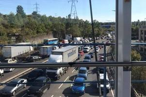 m25 dartford crossing traffic: a13 and lakeside roads heavily congested after serious crash
