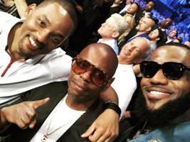 lebron james, will smith & dave chappelle define black excellence in this selfie