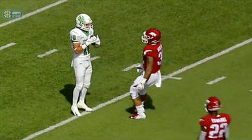 how north texas and its firefighting walk-on stunned arkansas with the trick play of the year