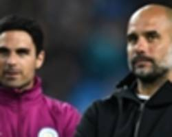 arteta ready to step into guardiola's shoes after missing out on arsenal job