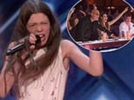 British schoolgirl, 14, is favourite to win $1m prize in America's Got Talent final