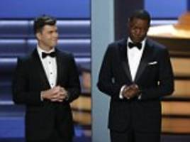 colin jost and michael che take aim at roseanne at emmys