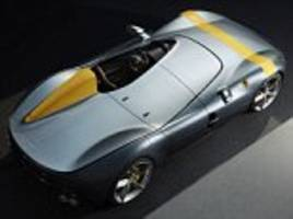 ferrari unveils its most powerful - and roofless - road car, called the monza