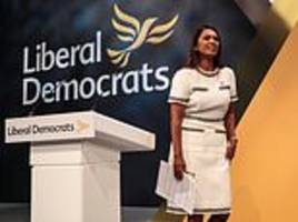 QUENTIN LETTS sees moneybags Gina Miller give the day's big speech at the Lib Dem conference