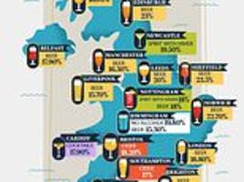 the booze map of britain: beer is the nation's number one tipple