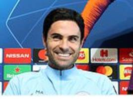 mikel arteta loves the hot seat as he gets ready to take control for man city against lyon