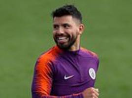 sergio aguero, david silva and co get ready for lyon in the champions league
