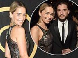 Emilia Clarke celebrates Game Of Thrones triple Emmy win with co-stars at HBO's after-party