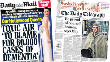 Newspaper headlines: 'Russian model's terror' in Salisbury and dementia pollution link
