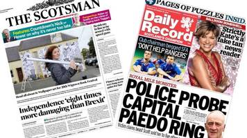 scotland's papers: police investigate paedophile ring claims