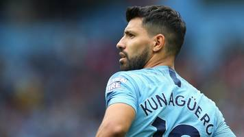 Man City forward Sergio Aguero fit to face Lyon in Champions League opener