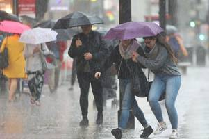 hour by hour weather forecast for birmingham as storm helene hits britain with 80mph winds