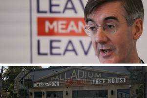wetherspoon pub will welcome jacob rees-mogg and founder tim martin but they're not planning to talk brexit