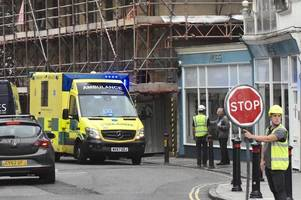 woman suffers back injury near construction site in bath city centre