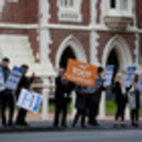 ministry of justice workers strike, walk out of new zealand's courthouses