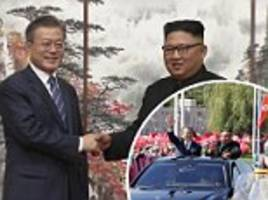 North Korea agrees to weapons inspections as Kim Jong-un and South Korea's president wrap up summit