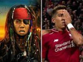liverpool fans are react to roberto firmino's eye-patch celebration