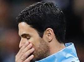 mikel arteta hits out at manchester city's performance following 2-1 defeat to lyon