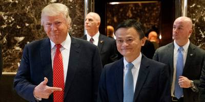 jack ma said trump's trade war with china will wreck alibaba's plans to help create 1 million us jobs (baba)