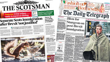 Scotland's papers: Immigration powers 'snub' and 'toxic air'