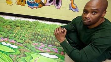 us inmate's golf drawings lead to freedom after 27 years behind bars