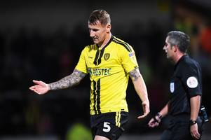 why kyle mcfadzean will miss burton albion's carabao cup clash with burnley