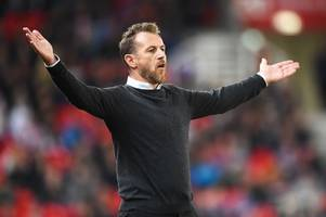 gary rowett needs to ignore moaners in the stands